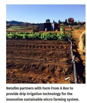 Netafim, Farm From A Box collaborate to provide drip irrigation technology
