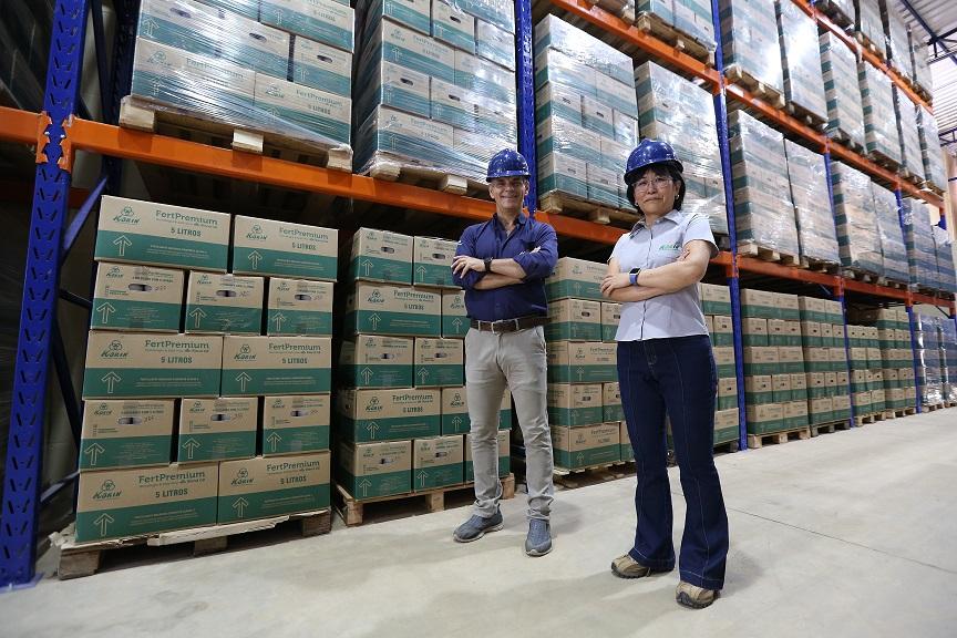 CEO Luiz Demattê - production manager Sakae Kinjo - new factory.JPG
